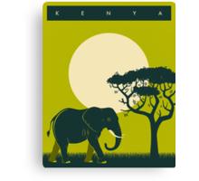 Kenya Travel Poster Canvas Print