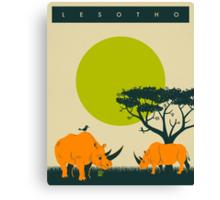 LESOTHO Travel Poster Canvas Print
