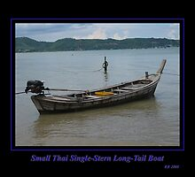Small Thai Single-Stern Longtail Boat by Keith Richardson