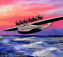 Dornier Do-X Flying Boat 1929 - all products except duvet by Dennis Melling
