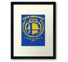 SMASH CLUB  Framed Print
