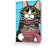 Hot Chocolate and Marshmallows Greeting Card