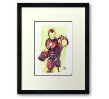 Old School Iron Man Framed Print