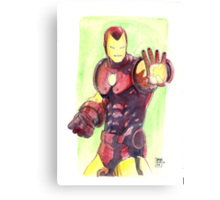 Old School Iron Man Canvas Print