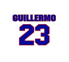 National baseball player Guillermo Velasquez jersey 23 Photographic Print