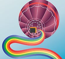 Air balloon with rainbow by AnnArtshock
