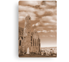 rock of cashel in sepia Canvas Print