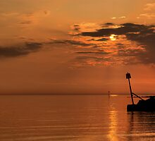 West Shore Sunset  by Peter Bellamy