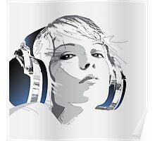 Headphone_Girl Poster