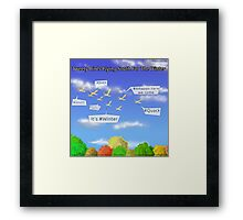 Tweety Birds Flying South For The Winter  Framed Print