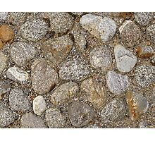 Cobblestone construction Photographic Print