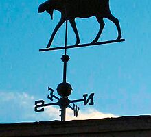 The Lodge weathervane Bridgton Me. by Rene Gingras