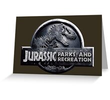 Jurassic Parks and Recreation - Parks and Rec - Andy Dwyer Greeting Card