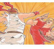 Ken vs. Ryu by penpaperflava