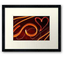 Glowing Heart Framed Print