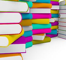 multiple colorful books stack by thinkoddin