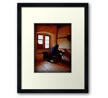 A Monk from the Past Framed Print