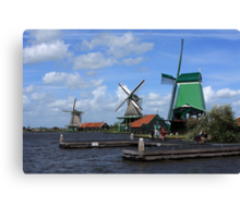 Three Windmills Canvas Print