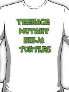 Teenage Mutant Ninja Turtles Words T-Shirt