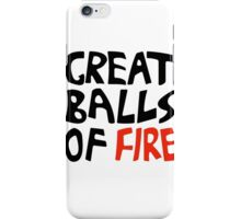 Great Balls of Fire (Keith Moon) iPhone Case/Skin
