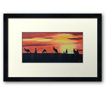 Roos on the horizon Framed Print
