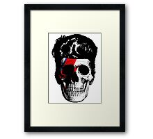 David Bowie (Ziggy Stardust) Skull Framed Print
