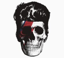 David Bowie (Ziggy Stardust) Skull by LamericaTees