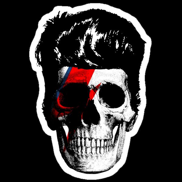 David Bowie (Ziggy Stardust) Skull by LamericaTees