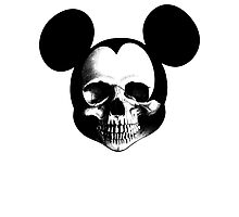 Mickey Skull Photographic Print