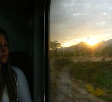 Early sunrise on a train to Chiang Mai by adelethomas