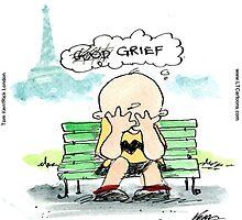 Charlie Hebdo: Grief  by Rick  London
