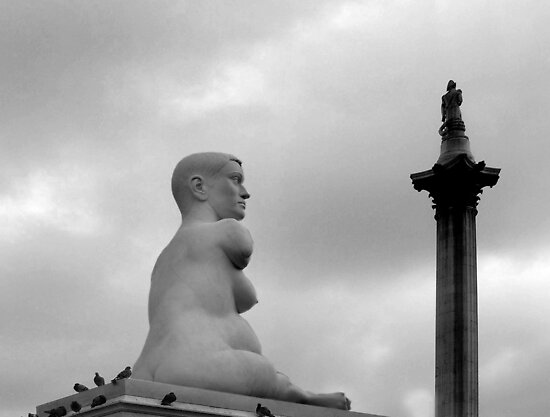 Time Line Trafalgar Square London by Eugene Francis Cummings