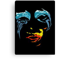Lady Gaga - Red yellow and blue Canvas Print