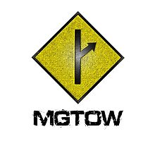 MGTOW Symbol With Rough Effect by movieshirtguy