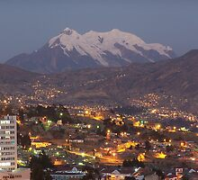Night time La Paz, Bolivia by ishtarsands