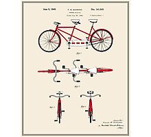 Tandem Bicycle Patent - Colour Photographic Print