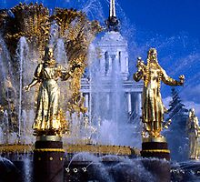 fountain of friendship, Moscow by chord0
