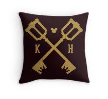 Crossed Kingdom Keys Throw Pillow