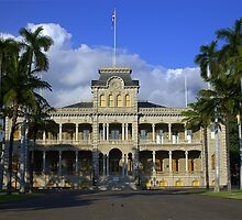 I'olani Palace, Hawaii by Tana Lee  Rebhan