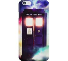 Tardis Cloud Art Painting iPhone Case/Skin
