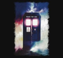 Tardis Cloud Art Painting Kids Clothes