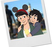Hiro and Tadashi at Disneyland by HollieBallard