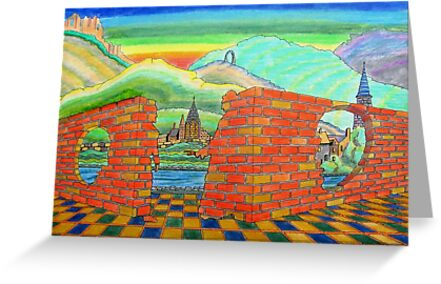 218 - IF ONLY THESE BRICKS COULD TALK II - DAVE EDWARDS - INK & COLOURED PENCILS - 2008 by BLYTHART