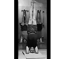 Five Minute Yoga Headstand   Photographic Print