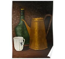 Still life with ancient teapot Poster