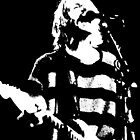 Kurt Cobain - Scream - b&W by rikovski