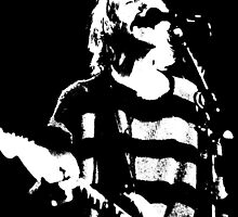 Kurt Cobain - Scream - b&W by rikovski