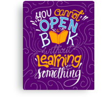 Reading is Learning Canvas Print