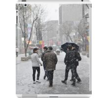 Snowing in Insadong, Seoul iPad Case/Skin