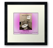 Toilets of New York 2015 February - Empire State Building  Framed Print